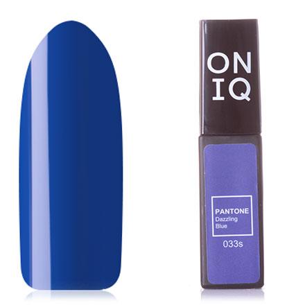 Купить ONIQ, Гель-лак Pantone №033s, Dazzling Blue, Синий