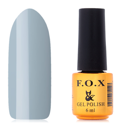 FOX, Гель-лак Pigment №013F.O.X<br>Гель-лак (6 мл) светло-серый, без перламутра и блесток, плотный.