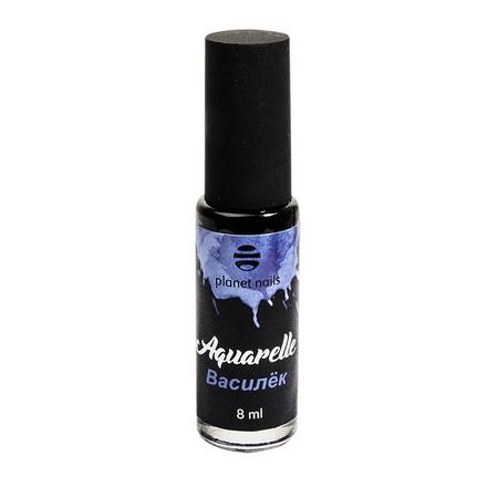 Planet Nails, Краска Aquarelle «Василек»Краски<br>Краска для акварельной росписи (8 мл).
