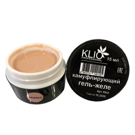Klio Professional, Камуфлирующий гель-желе №0942 все для акрилового наращивания ногтей