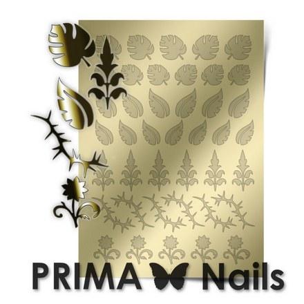 Prima Nails, Металлизированные наклейки FL-03, золото
