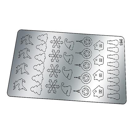 Купить Freedecor, Металлизированные наклейки №194, серебро