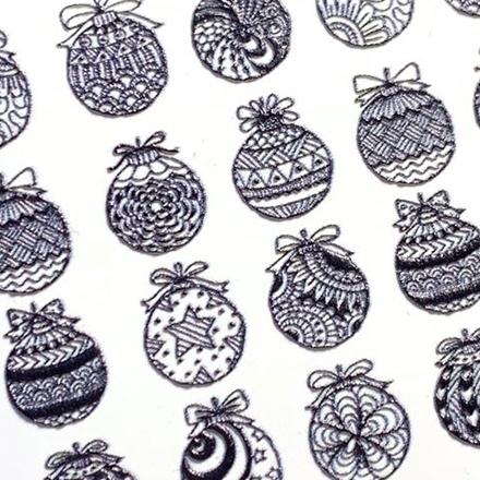 Купить AnnaTkacheva, 3Dслайдер№84, черный «Зима. Новый год», Anna Tkacheva