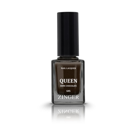 Zinger, Лак для ногтей Queen, цвет Dark chocolate