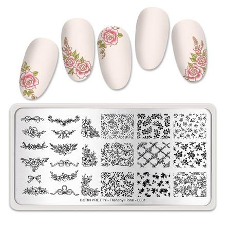 Born Pretty, Пластина для стемпинга Frechy Floral №001  - Купить