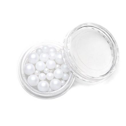Купить TNL, Жемчуг, mix №02, белый, TNL Professional