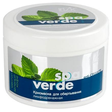 IRISK, Криомаска для обертывания «Spa Verde», 500 млСредства от целлюлита<br>Антицеллюлитная лимфодренажная криомаска с ментолом и зеленым кофе.<br>