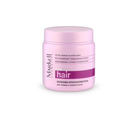 Markell, Бальзам-ополаскиватель для тонких и ломких волос «Professional», 500 мл кремы markell pt крем парафин для ног персик 100 мл