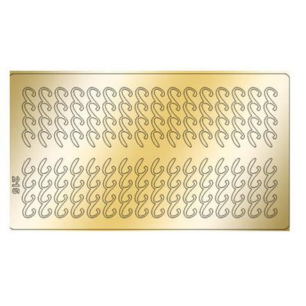 Купить Freedecor, Металлизированные наклейки №215, золото