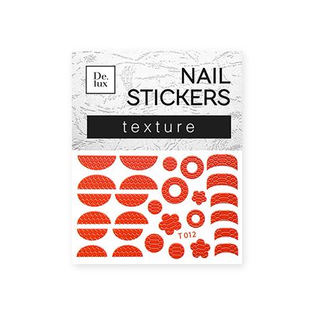 De.Lux, Текстурный слайдер «Кожа» Т012Слайдер-дизайн<br>Текстурный слайдер для создания дизайна на ногтях.