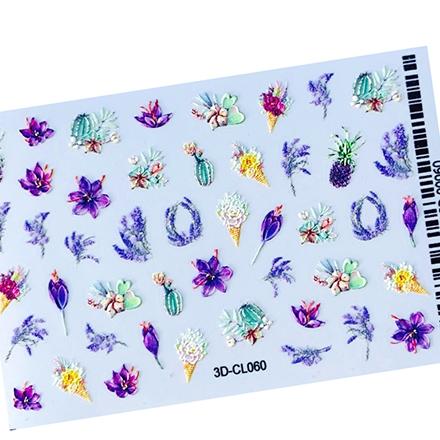 AnnaTkacheva,3D-стикерCL№060 «Цветы. Лето» фото