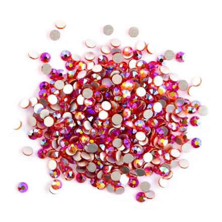 TNL, Стразы голографик, mix «Черешня»Стразы для ногтей TNL<br>Стеклянные стразы для дизайна ногтей разных размеров, 1440 шт.<br>