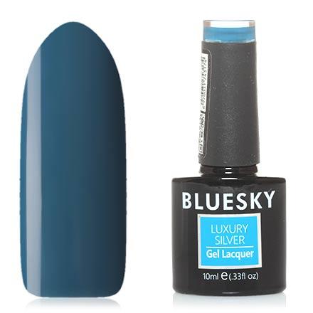 Купить Bluesky, Гель-лак Luxury Silver №322, Синий