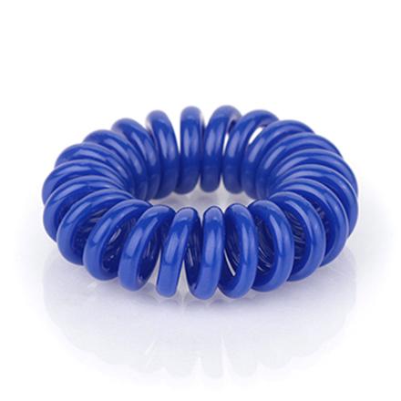 Резинка для волос силиконовая, синяя