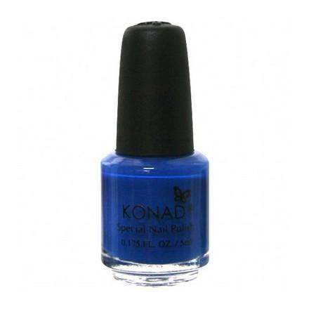 Konad, лак для стемпинга, цвет S22 Blue 5 ml (синий)Лаки для стемпинга<br>Специальный акриловый лак для нанесения рисунка с помощью стемпинга.