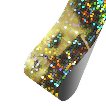Patrisa nail, Фольга для дизайна Пиксели (голография серебряная), 60 см
