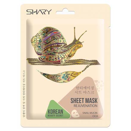 Shary, Маска-омолаживание для лица Snail Mucin Cica, 25 г