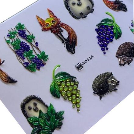 AnnaTkacheva,3D-слайдерCrystalHT№114 «Животные. Лисы» фото