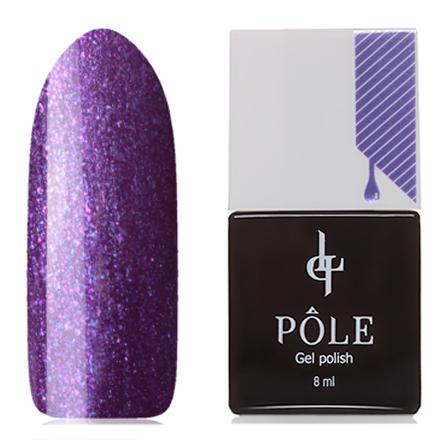 POLE, Гель-лак №015, Пурпурный шелкPOLE<br>Гель-лак (8 мл) ярко-фиолетовый, с розовыми и синими микроблестками, с перламутром, плотный.<br><br>Цвет: Фиолетовый<br>Объем мл: 8.00