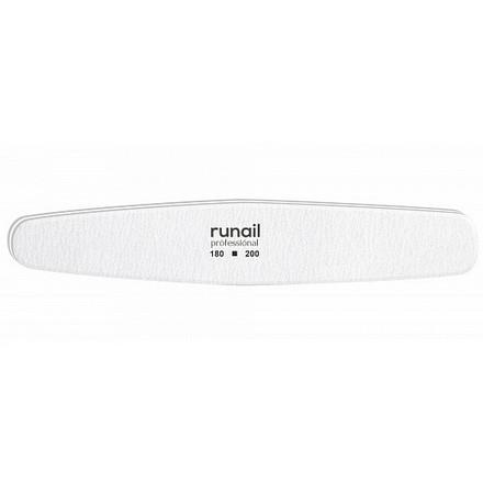 Купить RuNail, Пилка для искусственных ногтей, белая, овал, 180/200