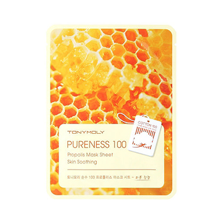 Tony Moly, Маска для лица Pureness 100 Propolis Mask Sheet тканевая маска tony moly pureness 100 shea butter mask sheet объем 21 мл