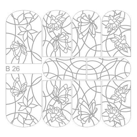 Milv, Трафареты B26Трафареты для маникюра<br>Трафарет для создания уникального дизайна на ногтях.<br>