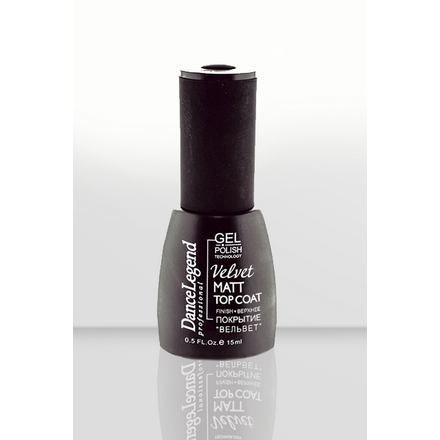 Dance Legend, Velvet matt top gel, Топ, 15 мл