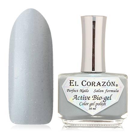 El Corazon, Активный биогель Pearl, №423/1002El Corazon <br>Лак для ногтей (16 мл) светло-серый, с мелкой голографической фольгой, плотный.<br><br>Цвет: Черный<br>Объем мл: 16.00