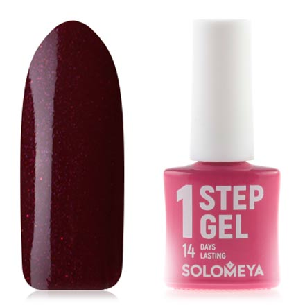 Купить Solomeya, Гель-лак One Step №43, Kir Royal, Бордовый
