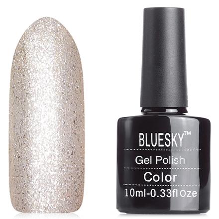 Bluesky, Гель-лак A34Bluesky Шеллак<br>Гель-лак (10 мл) золотой, перламутровый, с большим количеством мелких блесток, плотный.<br><br>Цвет: Золотой<br>Объем мл: 10.00