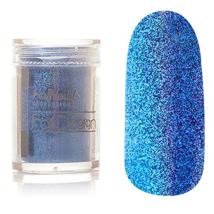 ruNail, дизайн для ногтей: фольга 1993 (синий, голографический)