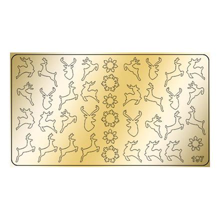 Купить Freedecor, Металлизированные наклейки №197, золото
