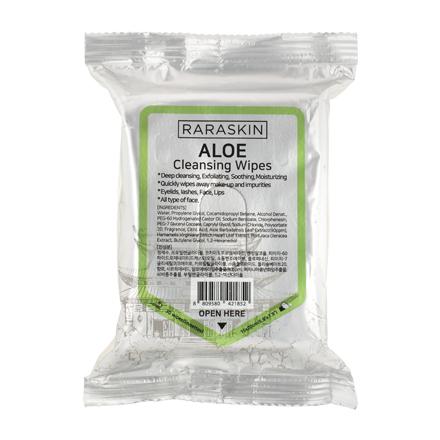Купить Raraskin, Очищающие салфетки для лица Aloe, 30 шт.