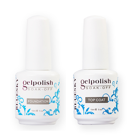 Bluesky Gelish, набор Base Coat 15 ml+Top Coat 15 ml