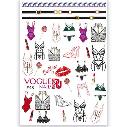 Vogue Nails, 3D-слайдер №48Слайдер-дизайн<br>Слайдер для создания дизайна на ногтях.