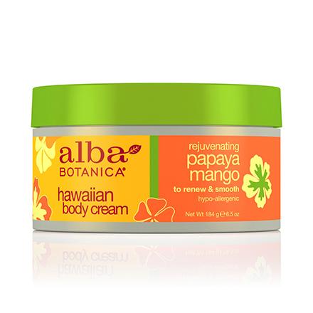 Alba Botanica, Крем для тела Hawaiian Papaya Mango, 184 г
