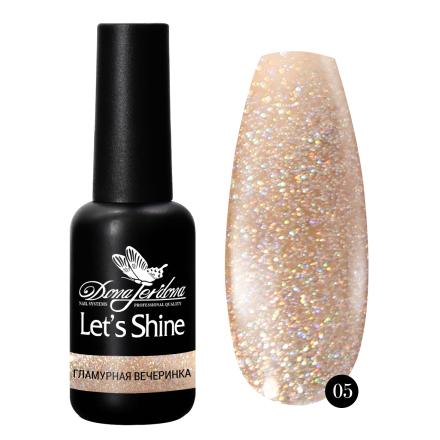 Купить Dona Jerdona, Гель-лак Let's Shine №05, Бежевый
