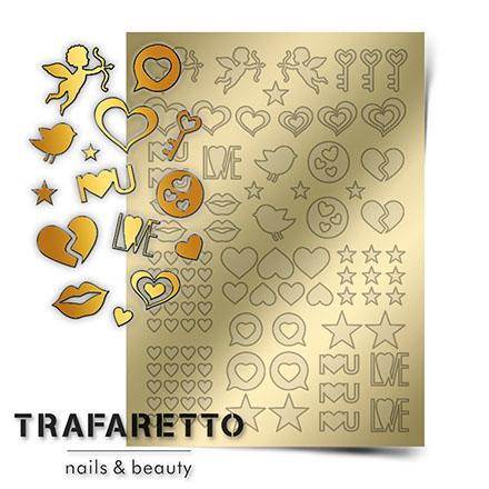 Купить Trafaretto, Металлизированные наклейки LV-01, золото