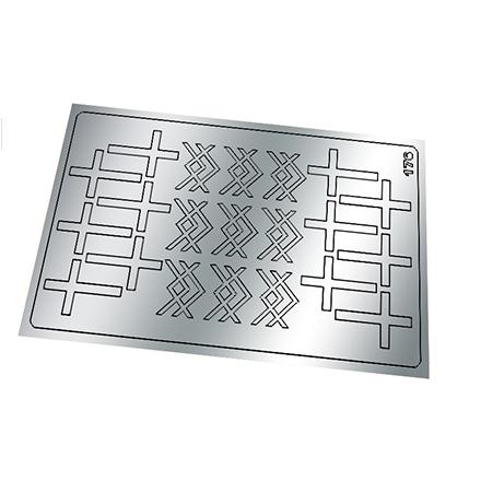 Купить Freedecor, Металлизированные наклейки №176, серебро