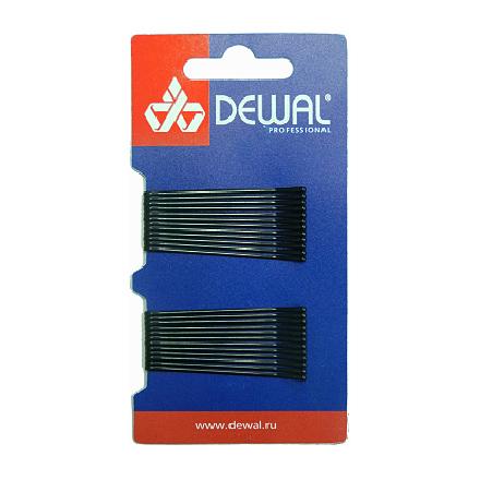 Купить Dewal, Невидимки прямые, черные, 50 мм, 24 шт.