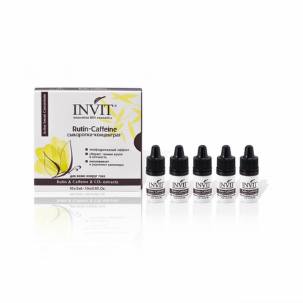 Купить INVIT, Сыворотка-концентрат для кожи вокруг глаз Rutin-Caffeine, 10х3 мл