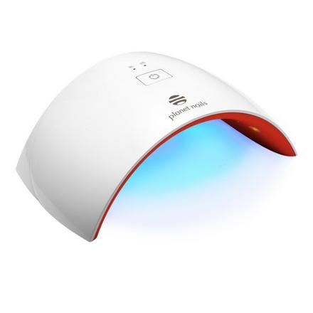 Planet Nails, Лампа UV/LED Wave, 24W, белая с красным