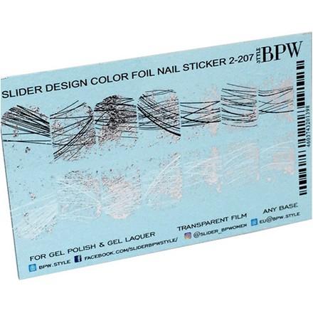 BPW.style, Слайдер-дизайн «Паутинка с фольгой 2» №2-207, серебро  - Купить