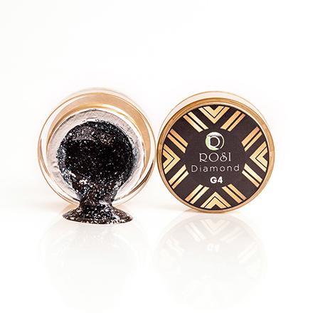 Rosi, Глиттер Diamond №004, синийГель-краски Rosi<br>Гель-краска с добавлением фольги для дизайна ногтей (5 г).