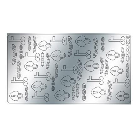 Freedecor, Металлизированные наклейки №202, серебро фото