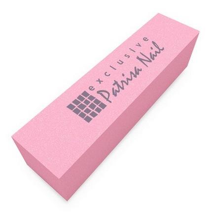 Patrisa Nail, Шлифовочный блок розовый, 180/240