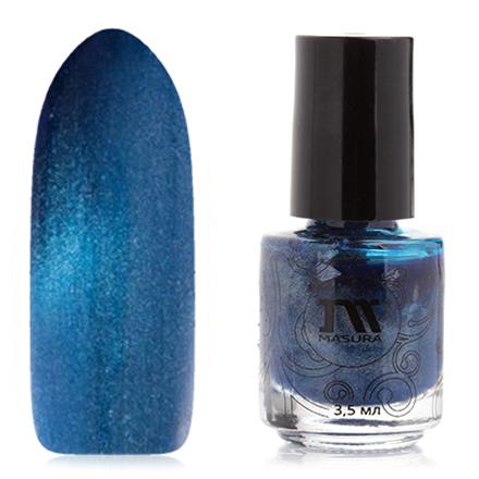 Купить Masura, Лак для ногтей №904-190М, Кобальтовый дамаскет, Синий