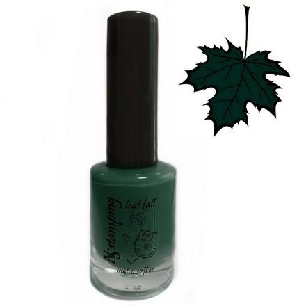 Купить Nail Story, Лак для стемпинга Leaf Fall №7, темно-зеленый, Зеленый