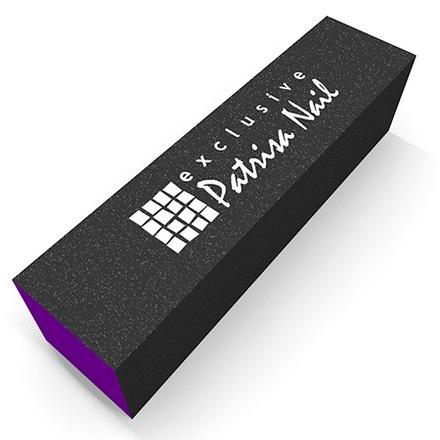 Patrisa Nail, Шлифовочный блок трёхсторонний фиолетовый, 60/80/100 (Patrisa nail)
