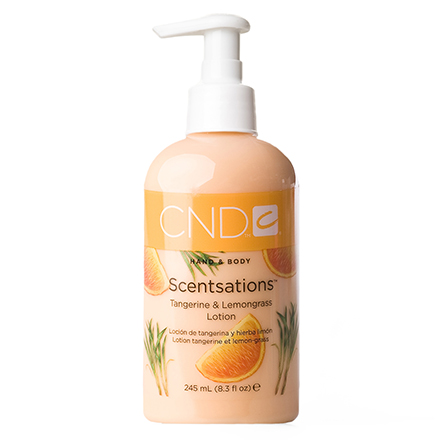 CND, Лосьон Creative Scentsations Tangerine & Lemongrass, 245 мл cnd лосьон для рук и тела береза и мята cnd scentsations lotion birch and mint 14115 245 мл